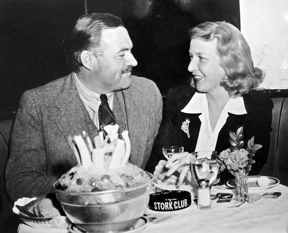 Ernest Hemingway and his third wife, Martha Gellhorn.