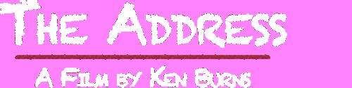 The address logo white