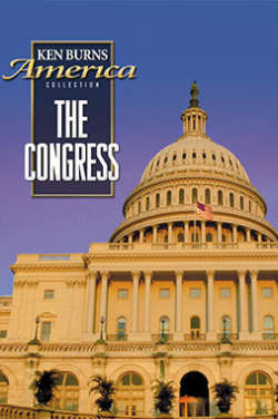 """A color poster for the film """"The Congress."""" It depicts the Capitol Building against a purple-blue sky."""