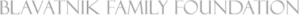 A gray text logo for The Blavatnik Family Foundation.