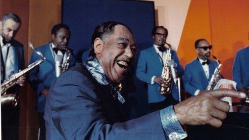Duke Ellington in the film Jazz Odyssey.   UNUM