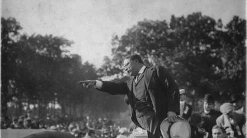 Theodore Roosevelt's Bull Moose presidential campaign, 1912. | Photo Gallery