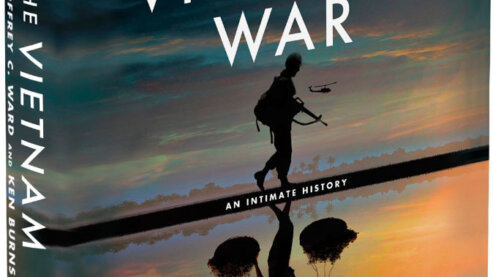 """An image of the hardcover book accompanying the film, titled """"The Vietnam War - An Intimate History"""" by Geoffrey C. Ward and Ken Burns   Book Excerpt"""