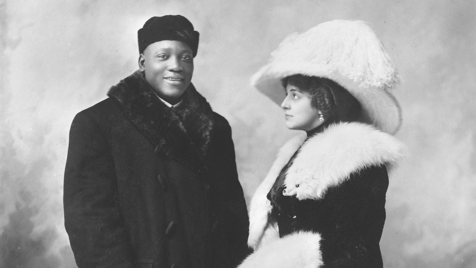 Jack Johnson and Etta Duryea in 1910